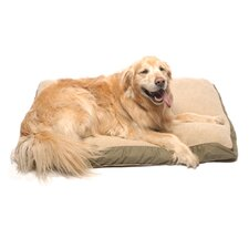 Four Season Pet Bed with Cashmere Berber Top in Olive with Khaki Cording