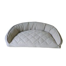 Diamond Quilted Semi Circle Lounge Dog Bed