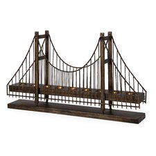 Wrought Iron Suspension Bridge Candelabra