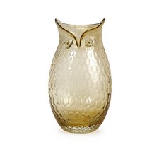 Ambra Large Glass Owl Vase