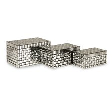 Foley Mirror Mosaic Boxes (Set of 3)