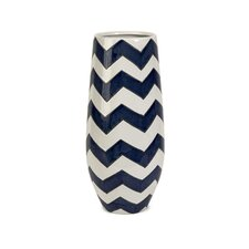 Chevron Short Vase