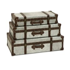 Theodric Galvanized Trunk (Set of 3)