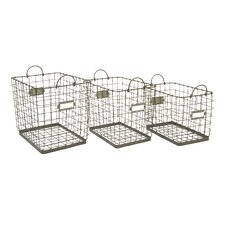 Newbridge Wire Storage Baskets (Set of 3)