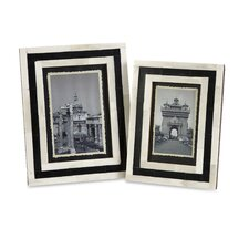 Bella Bone Inlay Picture Frame (Set of 2)