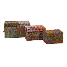 Handsel Woven Rag Trunk (Set of 3)