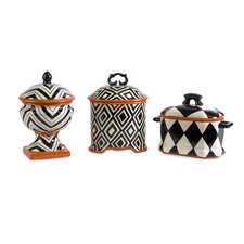 Wicked Ceramic Lided Boxes (Set of 3)