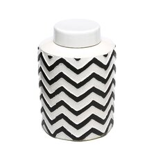 Chevron Canister with Lid