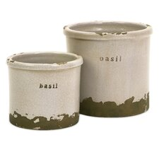 Basil Herb Pots - Set of 2