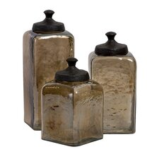 Square Luster Canister (Set of 3)