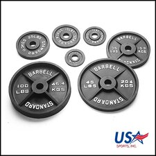 45 lbs Olympic Plate in Black