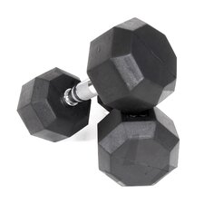 80 lbs Rubber Encased Octagonal Dumbbells