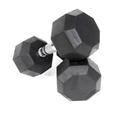 75 lbs Rubber Encased Octagonal Dumbbells