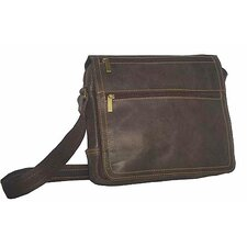 Small Laptop Messenger in Distressed Leather