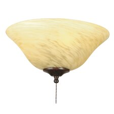 Yellow and White Swirl Ceiling Fan Glass Bowl Shade