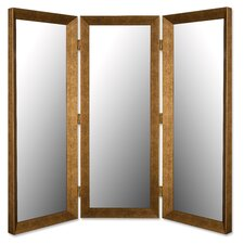 Room Divider Mirror in Coco Walnut