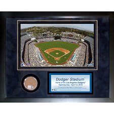 "Dodger Stadium 11"" x 14"" Mini Dirt Collage"