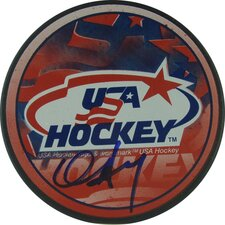 Chris Drury Team USA Autograph Signed Puck