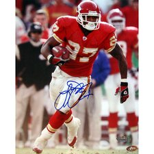 Larry Johnson Autographed Kansas City Chiefs Running Photograph