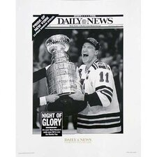 NHL Mark Messier Replica Daily News Cover Uns Photograph