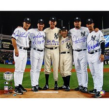Yankees Final Game at Yankee Stadium Perfect Game Battery Mates with PG Inscription Photo (MLB Auth)