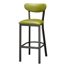 "Steel Upholstered Seat and Back Metal 30"" Barstool"