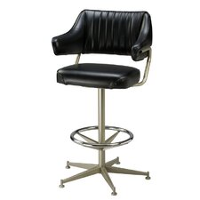 "Retro 30"" Metal Bucket Barstool with Arms"