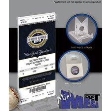 MLB Derek Jeter Breaks Yankees Hit Record Mini Mega Ticket - New York Yankees