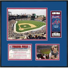 MLB That's My Ticket Turner Field Ticket Frame (Vertical) - Atlanta Braves