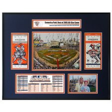 MLB 2005 All-Star Game Ticket Frame July 12, Comerica Park, Detroit, Mich - Detroit Tigers