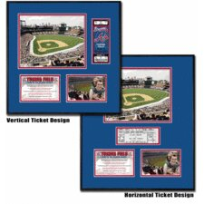 MLB Turner Field Ballpark Ticket Frame - Atlanta Braves