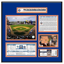 MLB Shea Stadium Final Game Ticket Frame - New York Mets
