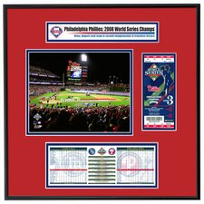 MLB 2009 World Series Ticket Frame Jr. Game 3 Opening Ceremony - Philadelphia Phillies