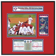 MLB 2008 World Series Replica Ticket Frame Team Celebration - Philadelphia Phillies