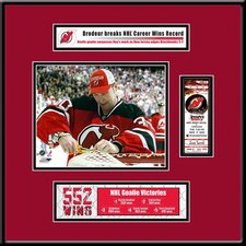 NHL Martin Brodeur Most Career Wins Ticket Frame Jr. - Cutting the Net - New Jersey Devils