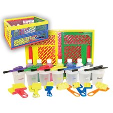 Adjustable Easel With 27 Piece Paint Set