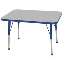 24x36 Rectangular Adjustable  Activity Table in Gray