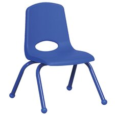 "12"" Plastic Stack Chair with Matching Painted Legs"