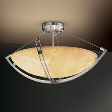 Crossbar Porcelina 8 Light Semi Flush Mount
