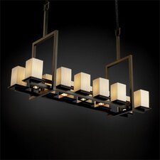 Montana Limoges 12-Up and 5-Down Light Tall Bridge Chandelier