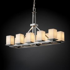 Montana Limoges 10 Light Rectangular Chandelier