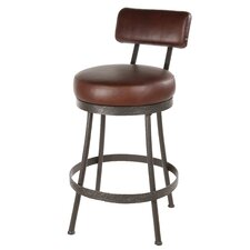 "Cedarvale 25"" Swivel Counter Height Barstool with Pecan Seat"