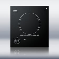 One Burner Electric Cooktop in Black