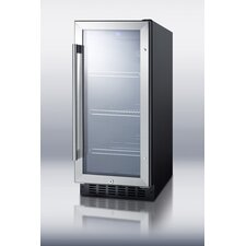 "15"" Wide Glass Door Beverage Cooler"