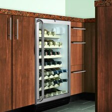 Wine Cellar with Installed Lock in Black
