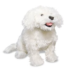 Plush Bichon Frise Stuffed Dog
