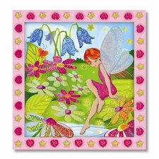 Flower Garden Fairy Peel and Press Sticker by Number