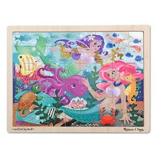 Mermaid Fantasea Wooden 48 Piece Jigsaw Puzzle Set