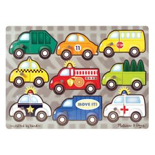 Vehicles Mix N' Match Wooden Peg Puzzle