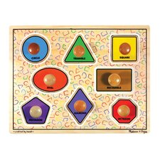 Large Shapes Jumbo Wooden Knob Puzzle